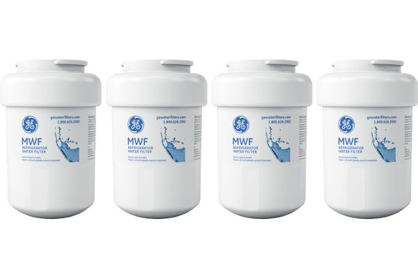 Large image of GE Replacement Refrigerator Water And Ice Filter - 4 Pack - MWFX4