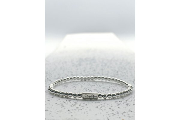 Large image of MaeMarie Wraps Silver Lining Intention Beads Collection Single Bracelet, 3mm - SL-3-S