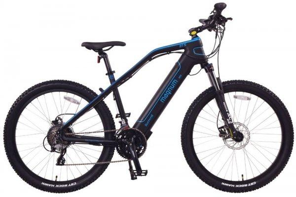 Large image of Magnum Black With Blue Summit 500W Electric Bike - SUMMIT-29-MB-BLU