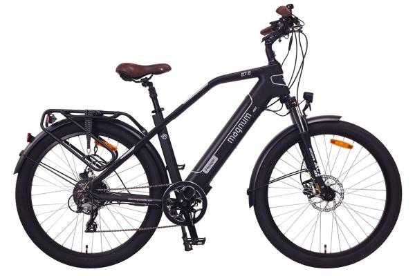 Large image of Magnum Black With Silver Voyager 500W Electric Bike - VOYAGER-MB-SLV