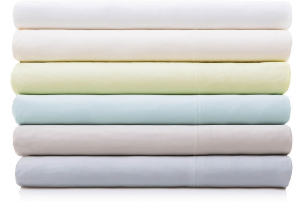 Large image of Malouf Woven Ash Queen Rayon From Bamboo Cotton Sheet Set - MA25QQASBS