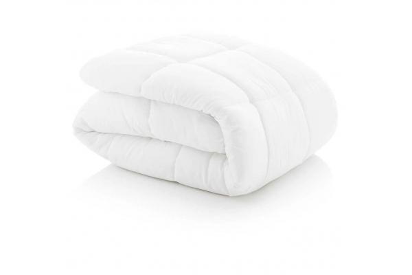 Large image of Malouf Woven White King Down Alternative Microfiber Comforter - MA70KKMICO