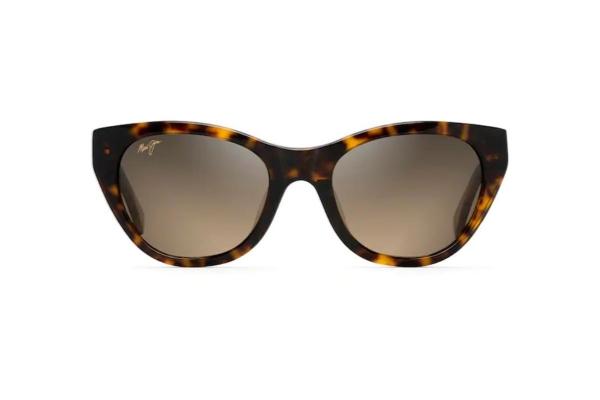 Large image of Maui Jim Capri Cat Eye Polarized Tortoise With Transparent Tan Womens Sunglasses - HS82010E