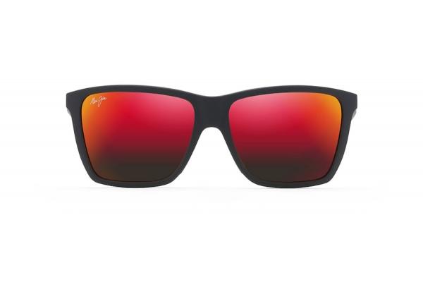 Large image of Maui Jim Cruzem Rectangular Polarized Matte Black Unisex Sunglasses - RM86402A