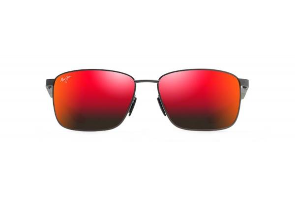 Large image of Maui Jim Ka'ala Rectangular Polarized Dark Gunmetal Unisex Sunglasses - RM85602