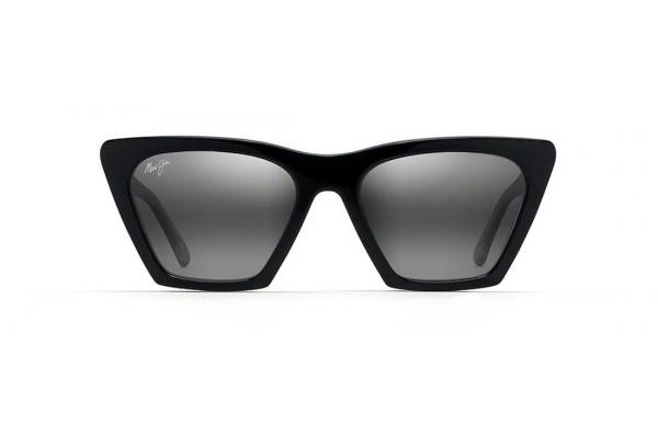 Large image of Maui Jim Kini Kini Polarized Black With Crystal Womens Sunglasses - GS84902K