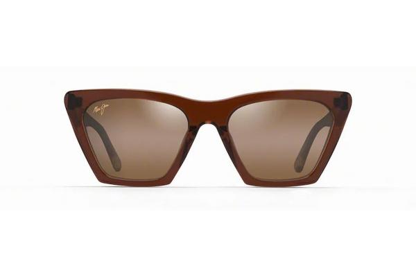 Large image of Maui Jim Kini Kini Polarized Rootbeer With Crystal Womens Sunglasses - HS84926E