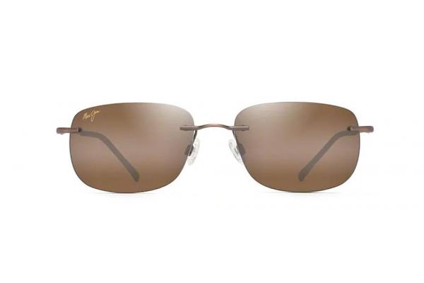 Large image of Maui Jim Ohai Oval Rimless Polarized Copper Unisex Sunglasses - H33418
