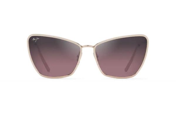 Large image of Maui Jim Puakenikeni Cat Eye Polarized Shiny Rose Gold Womens Sunglasses - RS82338B