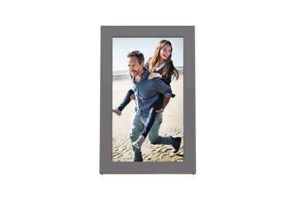 """Large image of Meural Charcoal Grey With Wood-Grain Inlay 15"""" WiFi Photo Frame - MC315GDW-100NAS"""