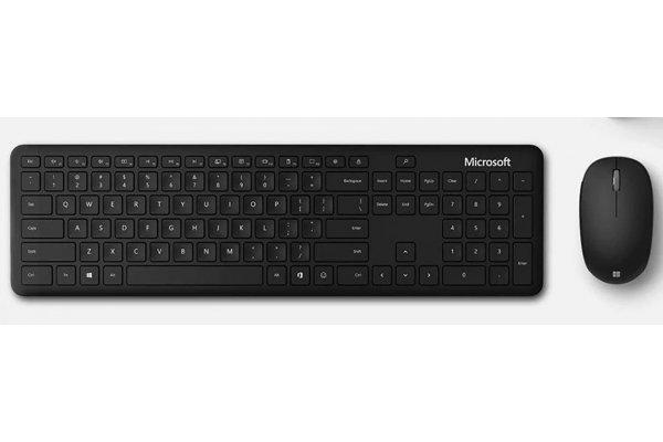 Large image of Microsoft Black Bluetooth Desktop Keyboard And Mouse - QHG00001