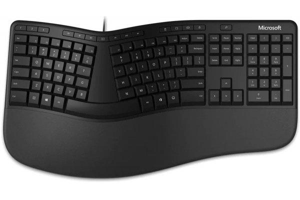 Large image of Microsoft Surface Black Ergonomic Keyboard - LXN00001