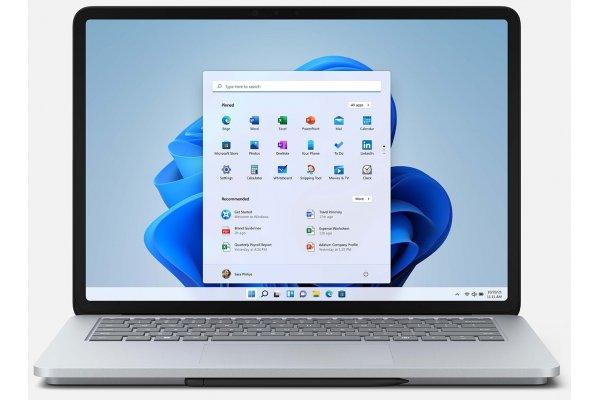 "Large image of Microsoft Surface Laptop Studio 14.4"" Platinum Computer Intel i7-11370H 32GB RAM 2TB SSD, NVIDIA GeForce RTX 3050 Ti - AI2-00001"