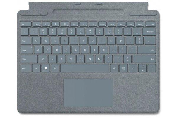 Large image of Microsoft Surface Pro Ice Blue Signature Keyboard - 8XA-00041