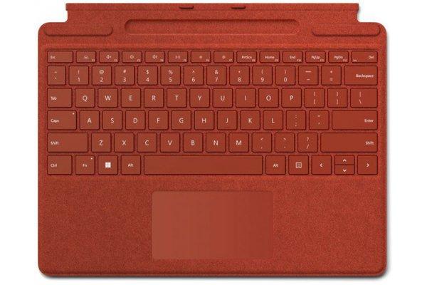 Large image of Microsoft Surface Pro Poppy Red Signature Keyboard - 8XA-00021