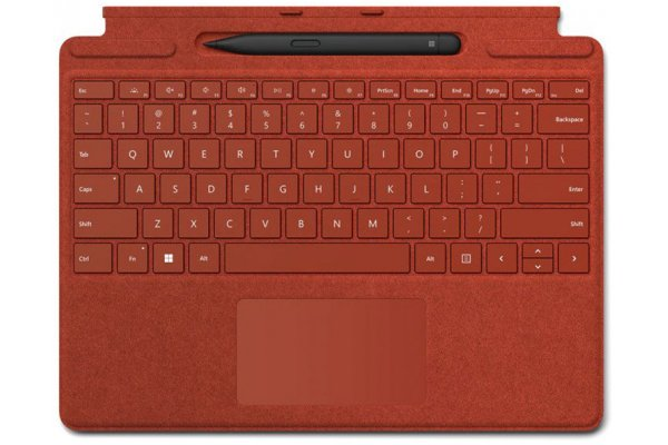 Large image of Microsoft Surface Pro Signature Poppy Red Keyboard With Slim Pen 2 - 8X6-00021