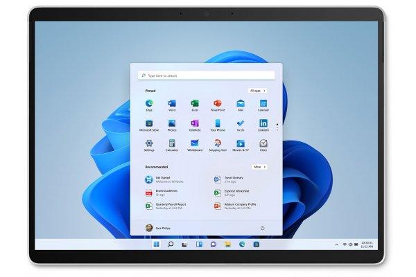 "Large image of Microsoft Surface Pro X Platinum 13"" Tablet Computer Microsoft SQ1 8GB RAM 256GB SSD - E7F-00001"