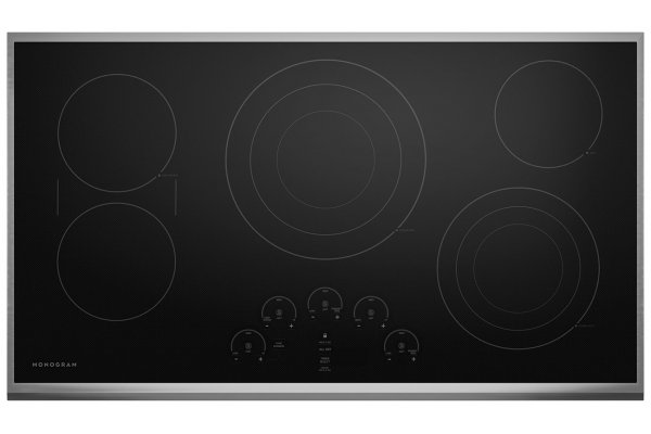 """Large image of Monogram 36"""" Stainless Steel Touch Control Electric Cooktop - ZEU36RSJSS"""