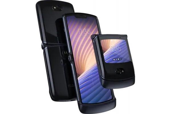 Large image of Motorola Razr 5G 256GB Polished Graphite Cellular Phone - XT2071-2 & 6519C