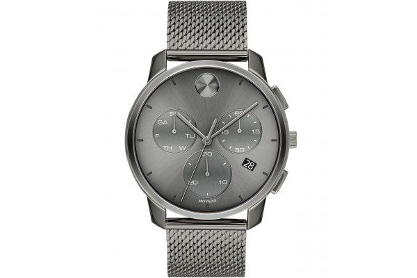 Large image of Movado BOLD Thin Quartz Chronograph Grey Dial Watch, 42mm - 3600635