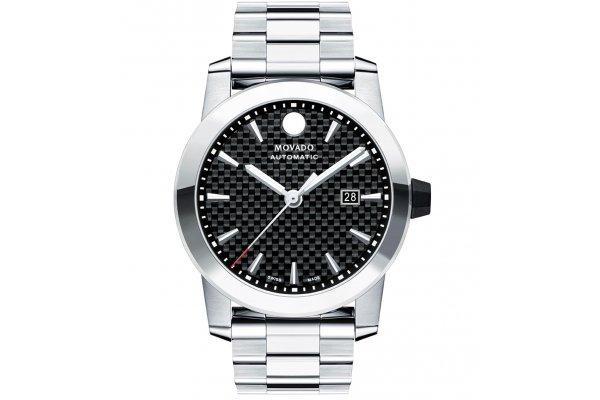 Large image of Movado Vizio Automatic Black Carbon Fiber Dial Watch, 44mm - 0607543