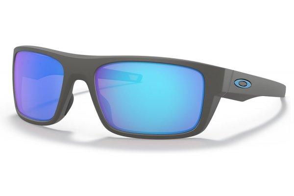 Large image of Oakley Drop Point Prizm Sapphire Polarized, Matte Dark Grey Sunglasses, 60mm - OO9367-0660