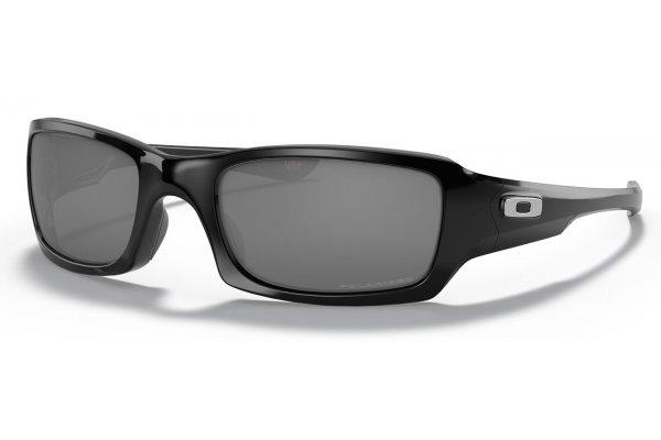Large image of Oakley Fives Squared Black Iridium Polarized Sunglasses, 54mm - OO923806