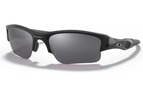 Large image of Oakley Flak Jacket XLJ Jet Black Sunglasses, Black Iridium Lenses, 63mm - OO9009 03-915 63