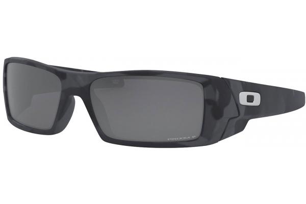 Large image of Oakley Gascan Matte Black Camo Polarized Mens Sunglasses - OO90146160