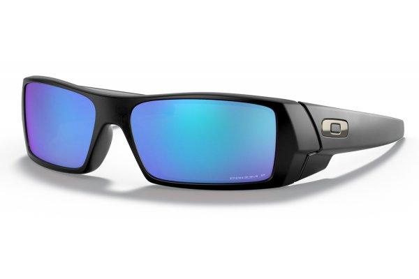 Large image of Oakley Gascan Prizm Sapphire Polarized Lenses, Matte Black Frame Sunglasses, 60mm - OO90145060