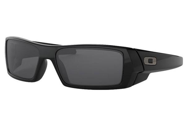 Large image of Oakley Gascan Wrap Sunglasses. Polished Black Frames, 60mm - 03471