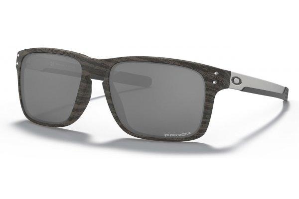 Large image of Oakley Holbrook Mix Prizm Black Sunglasses, Woodgrain Frames, 57mm - 0OO938404 57