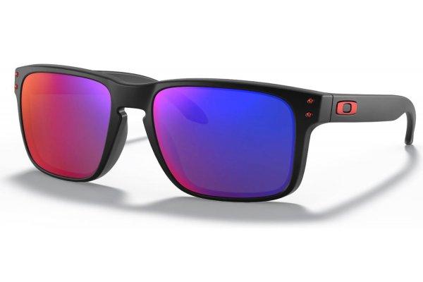 Large image of Oakley Holbrook Positive Red Iridium Lens Sunglasses, 55mm - OO9102-3655