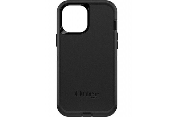 Large image of Otterbox Black Defender Series Case For Apple iPhone 12 Pro Max - 77-65449