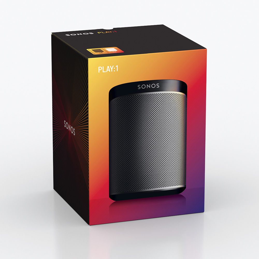 sonos play 1 black wireless speaker play1us1blk abt. Black Bedroom Furniture Sets. Home Design Ideas
