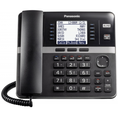Panasonic Black 4 Line Desktop Phone For KXTGW420 Telephone System