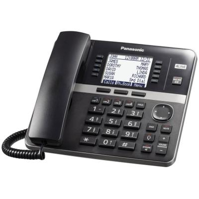 Panasonic Black 4-Line Expandable Telephone Base Station