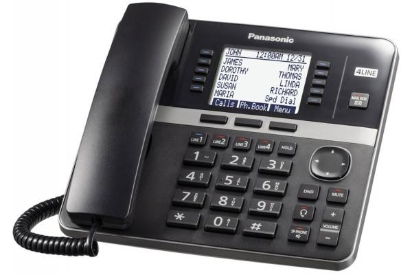 Large image of Panasonic Black 4-Line Expandable Telephone Base Station - KX-TGW420B