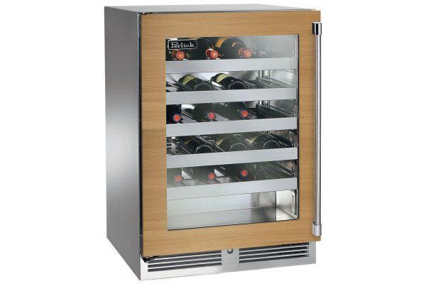 """Large image of Perlick Signature Series 24"""" Custom Frame Right-Hinge Shallow Depth Wine Reserve - HH24WS-4-4R"""