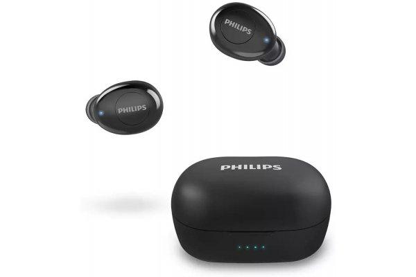 Large image of Philips 2000 Series Black True Wireless In-Ear Headphones - TAT2205BK/00 & 8JU021
