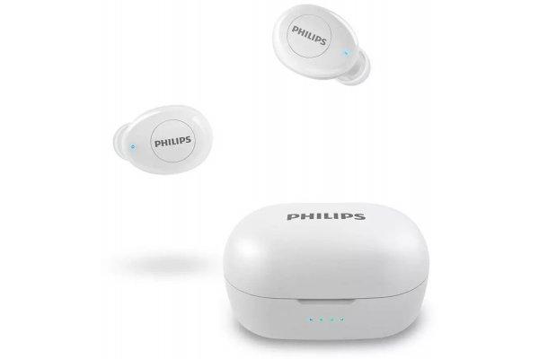 Large image of Philips 2000 Series White True Wireless In-Ear Headphones - TAT2205WT/00 & 8JU022