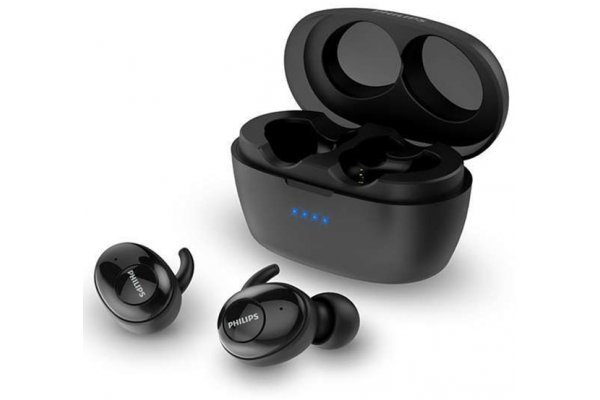 Large image of Philips 3000 Series Black True Wireless In-Ear Headphones - TAT3215BK/00 & 8JU023