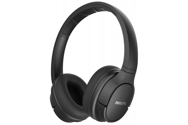 Large image of Philips ActionFit Black Wireless On-Ear Headphones - TASH402BK/27 & 8PN402
