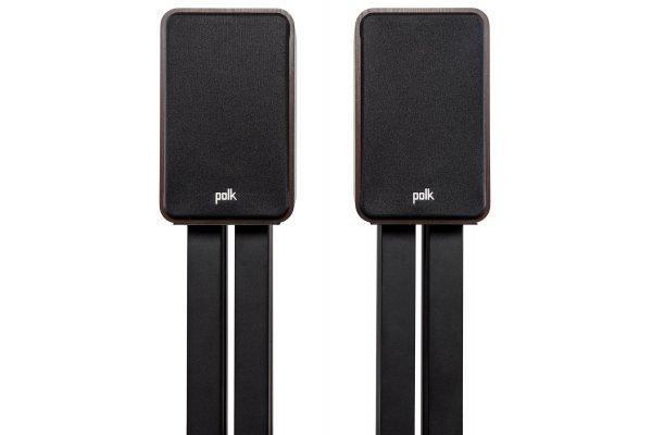 Large image of Polk Audio Signature Elite ES15 Walnut Compact Bookshelf Loudspeakers (Pair) - 300363-14-00-005