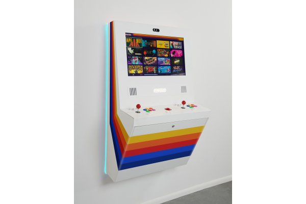 Large image of Polycade White Lux Gaming System - POLYLUXSTRIPESWHITE