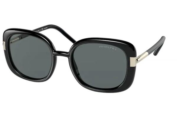 Large image of Prada Black PR 04WS Dark Grey Polarized Sunglasses 53mm - PR04WS1AB5Z153