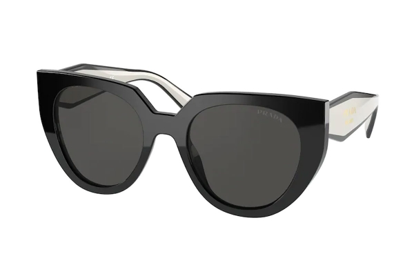 Large image of Prada PR 14WS Sunglasses, Black/Talc 52mm - PR14WS09Q5S052