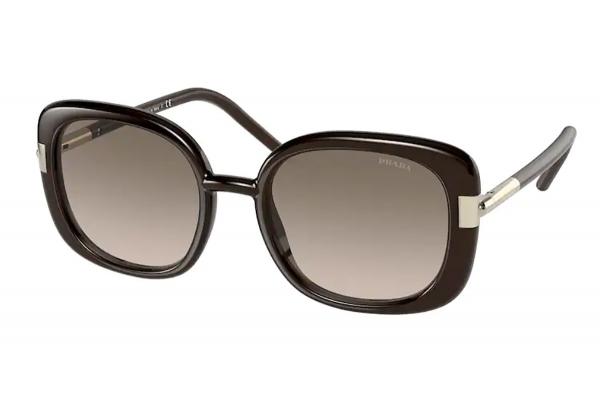 Large image of Prada Brown PR 04WS Gradient Sunglasses 53mm - PR04WS05M3D053