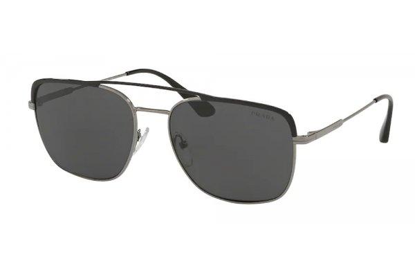 Large image of Prada PR 53VS Conceptual Pillow Sunglasses, Black/Gunmetal Frames, 59mm - PR53VSM4Y55059