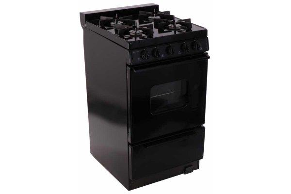 "Large image of Premier 20"" Black Cordless Gas Range - BHK5X0BP"